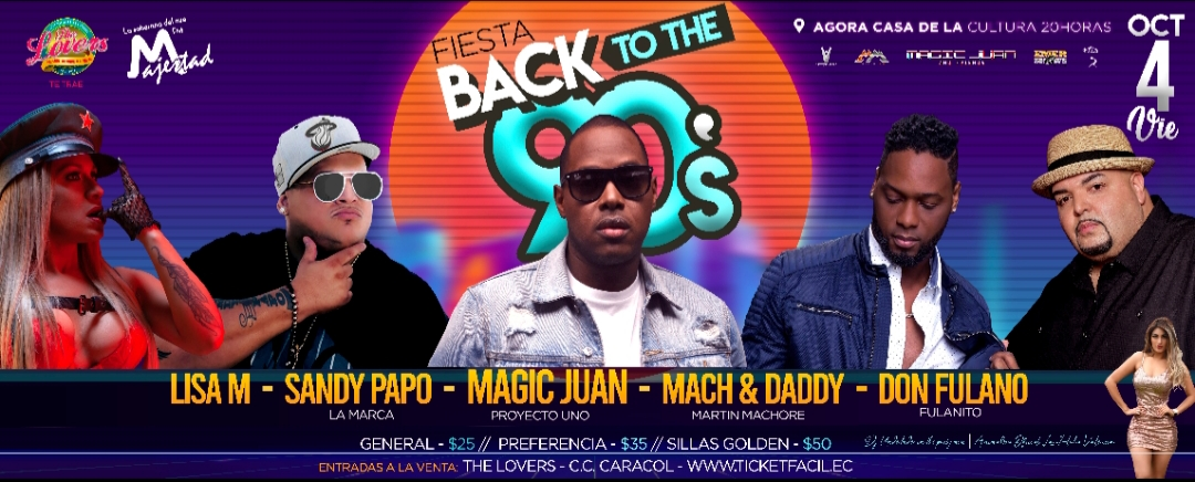 BACK TO THE 90S PROMOCION DE LANZAMIENTO