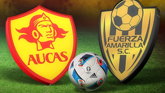 S. D. AUCAS VS C. D. FUERZA AMARILLA